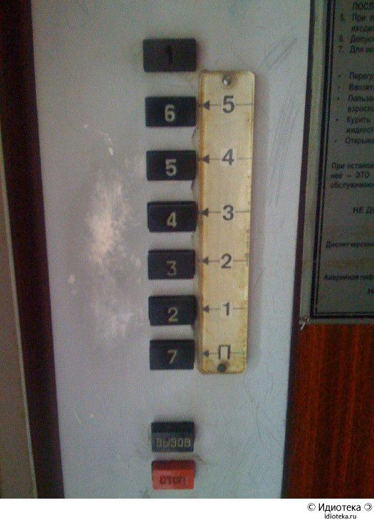 Подсказки к лифту