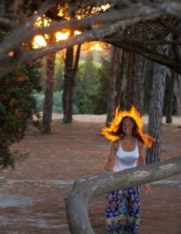 Пламенная девушка