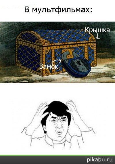 Сундуки в мультфильмах
