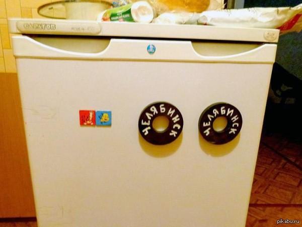Челябинские магниты на холодильник